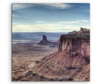 Landschaftsfotografie – Felsen im Canyonlands Nationalpark, Utah, USA auf Leinwand