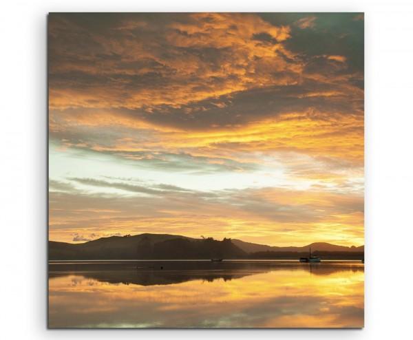 Landschaftsfotografie – Waikawa Bay bei Sonnenaufgang, Neuseeland auf Leinwand