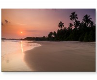 Tropical Beach – Sonnenuntergang am Meer - Leinwandbild