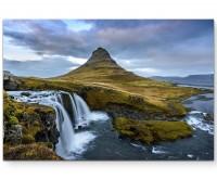 Island – kleiner Wasserfall - Leinwandbild