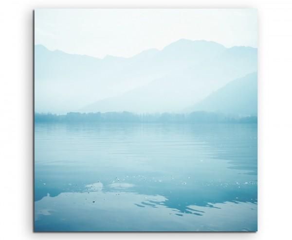 Landschaftsfotografie – Friedlicher Dal See in Kaschmir, Indien auf Leinwand