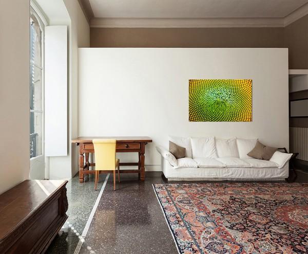 120x80cm Sonnenblume Nahaufnahme Natur gelb