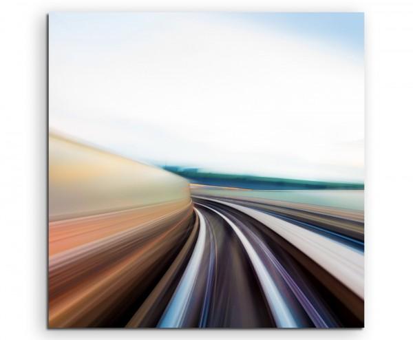 Dynamisches Bild einer Autobahn auf Leinwand exklusives Wandbild moderne Fotografie für ihre Wand in
