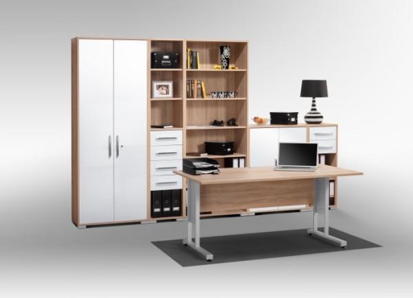 Büro Office System I Sonoma- Weiß 6tlg.