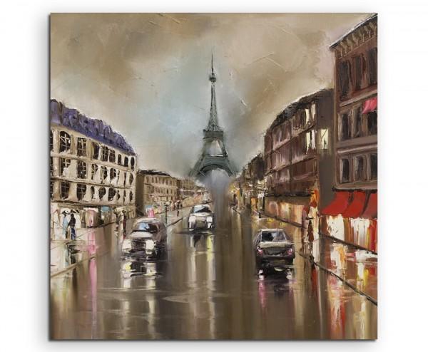 Gemälde – Paris bei Regen auf Leinwand