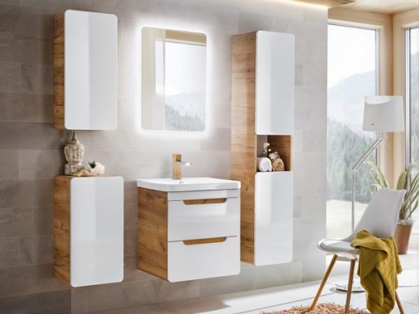 Badezimmer Aruba 6 teiliges Superset von Comad inklusive Waschbecken und Beleuchtung