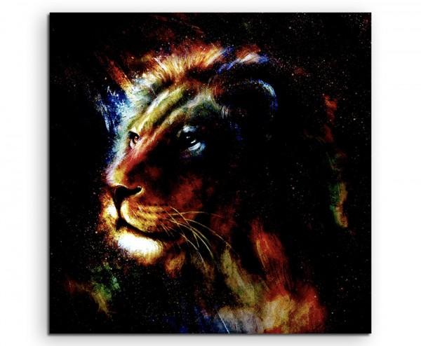 Gemälde eines Löwenköpfes auf Leinwand