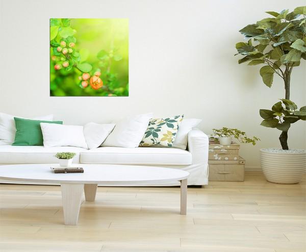 80x80cm Blumen Knospen Frühling Natur grün