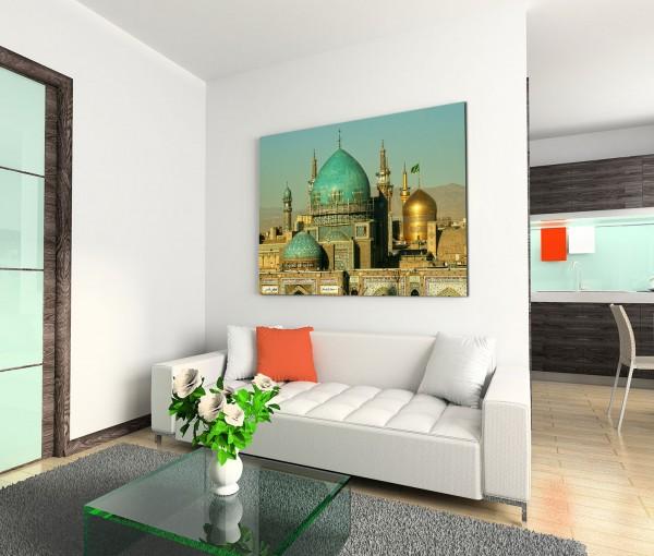120x80cm Wandbild Iran Masshad Imam-Reza-Schrein