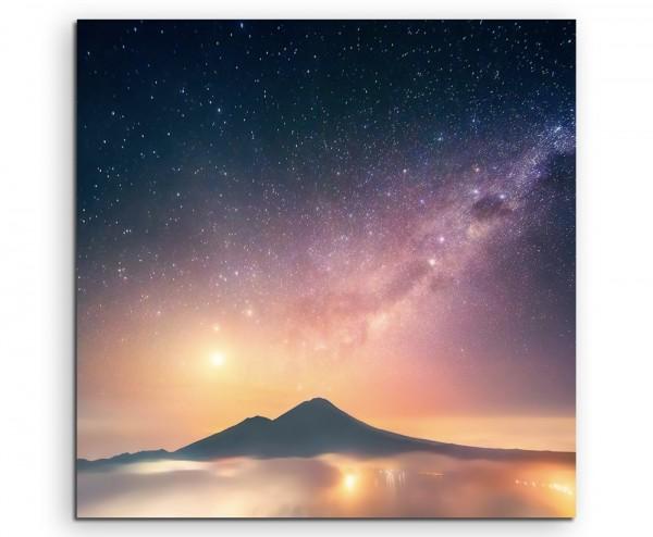 Landschaftsfotografie – Abang Berg mit Venus, Bali, Indonesien auf Leinwand