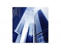 80x80cm Shanghai Finanzviertel Hochhäuser