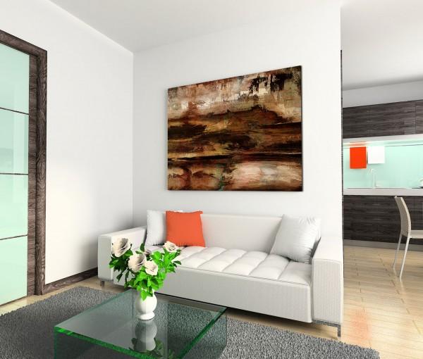 120x80cm Wandbild Malerei Acryl braun beige