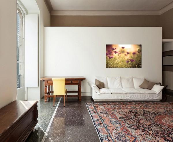 80x80cm Blumen Sommer lila abstrakt