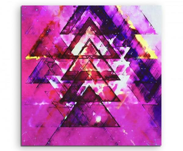 Gemälde - abstrakt modern chic chic dekorativ schön deko schön deko e pinke Dreiecke auf Leinwand