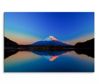 120x80cm Wandbild Fuji Berg See Sonnenaufgang Reflexion