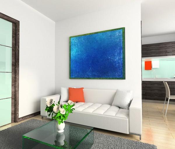 120x80cm Wandbild Hintergrund abstrakt blau grün