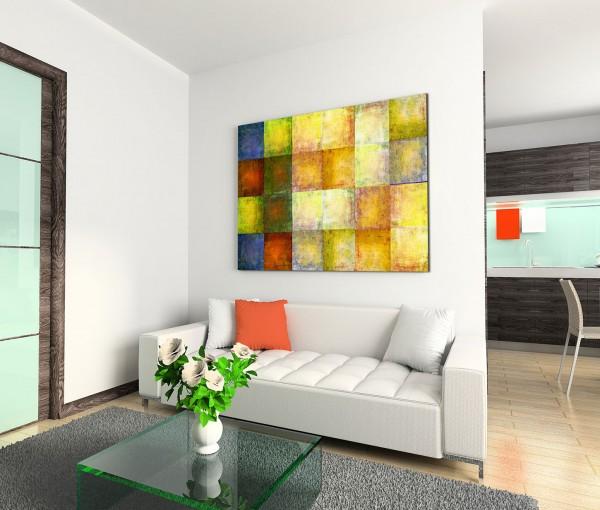 120x80cm Wandbild Hintergrund grunge grün blau orange gelb rot