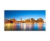 120x80cm Manhattan Brooklyn Bridge Wasser Himmel