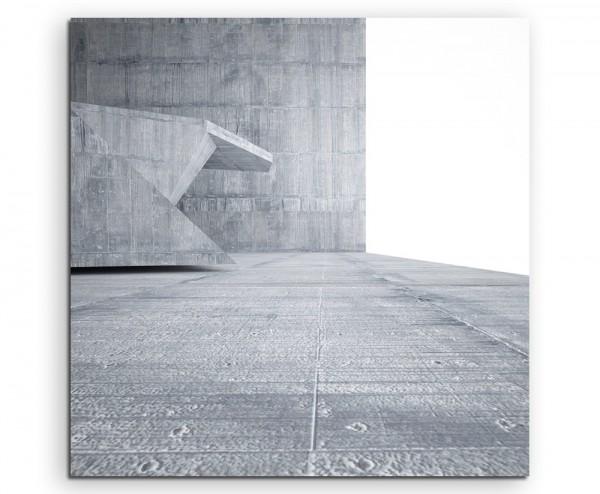 Architektur Fotografie – Betonlandschaft auf Leinwand exklusives Wandbild moderne Fotografie für ihr