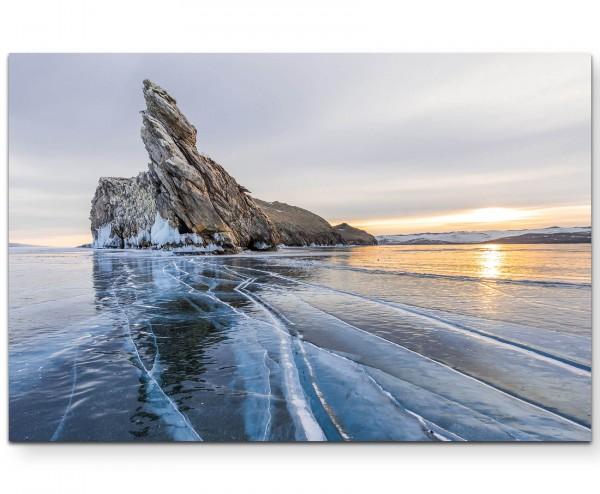 Ogoy Island – gefrorener See - Leinwandbild