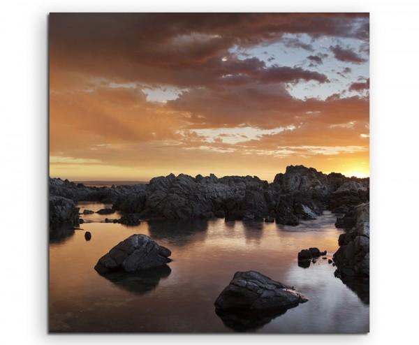 Landschaftsfotografie – Sonnenaufgang nach Gewitter auf Leinwand