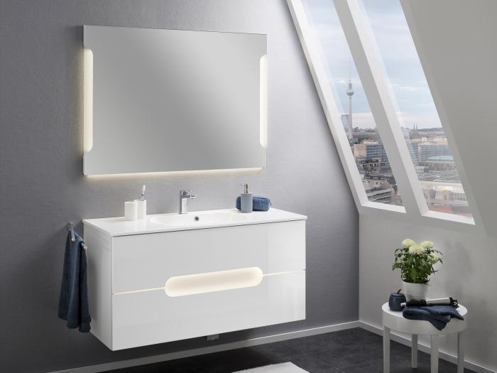 Badezimmer Alpha in Weiß 3 teiliges Gästebad