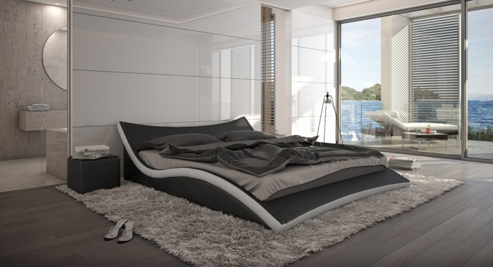 bett nurai 180 x 200 cm schwarz m bel. Black Bedroom Furniture Sets. Home Design Ideas