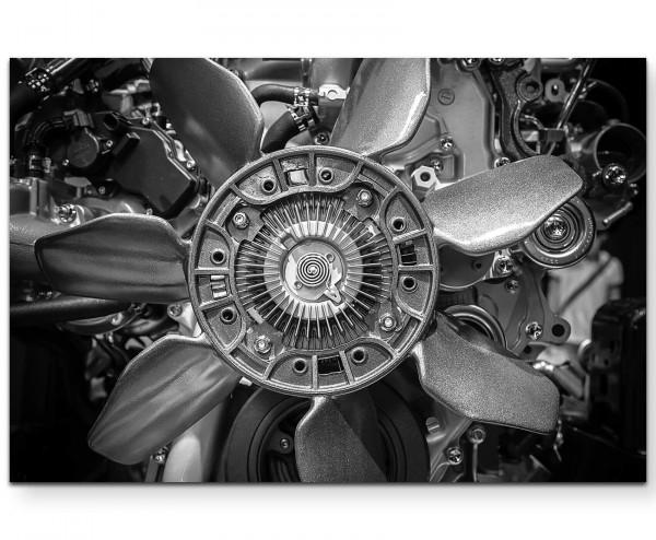Nahaufnahme eines Motors - Leinwandbild