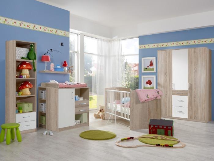 babyzimmer nicki 7tlg mit 3trg schrank m bel. Black Bedroom Furniture Sets. Home Design Ideas