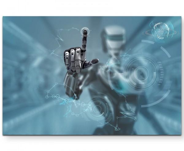 Roboter – Virtueller Bildschirm - Leinwandbild