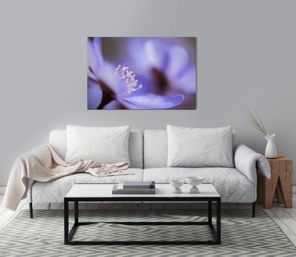 blaue Blume Wandbild in verschiedenen Größen