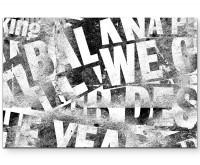 Vintage – Zeitungsüberschriften in schwarz/weiß - Leinwandbild