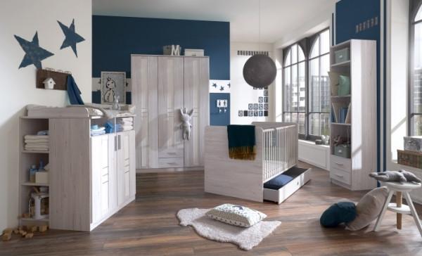 """Babyzimmer Bela """"Bornholm"""" in Weißeiche- Leinenweiß von Wimex 7 teiliges Superset +++ von möbel-direkt+++ schnell und günstig"""