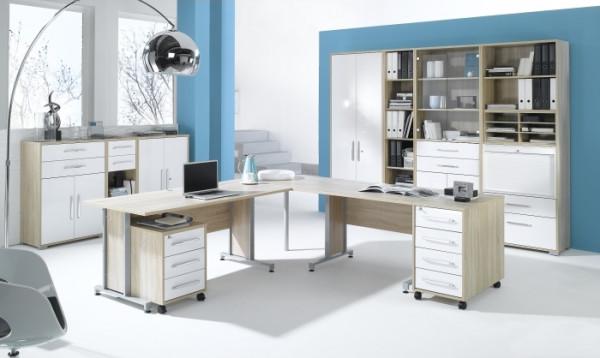Büro Office System IV Sonoma- Weiß 12tlg