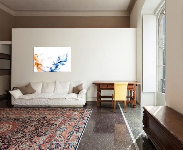 120x80cm Rauch blau orange Hintergrund