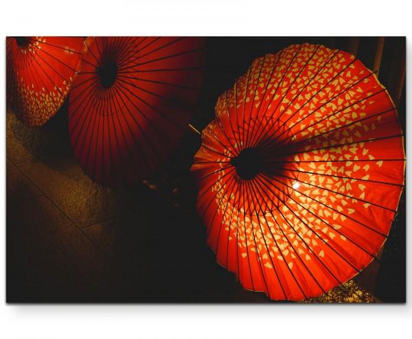 Japan – rote Regenschirme - Leinwandbild