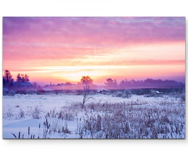Winterlandschaft Sonnenaufgang - Leinwandbild