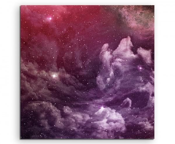 Naturfotografie – Violette Nebel und kosmischer Staub auf Leinwand