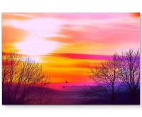 Farbenfroher Sonnenuntergang - Leinwandbild