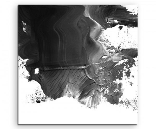 Abstraktes Gemälde – Schwarz auf Leinwand exklusives Wandbild moderne Fotografie für ihre Wand in vi
