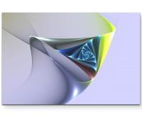 Illustration – Spirale auf lavendelfarbenem Hintergrund - Leinwandbild
