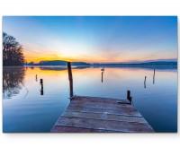 Sonnenaufgang am See – Polen - Leinwandbild