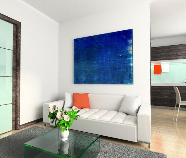 120x80cm Wandbild Hintergrund abstrakt blau