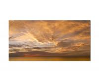 120x80cm Himmel Wolken Sonnenuntergang Ozean