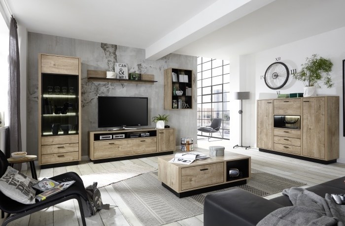 wohnwand widin 6teilig m bel. Black Bedroom Furniture Sets. Home Design Ideas