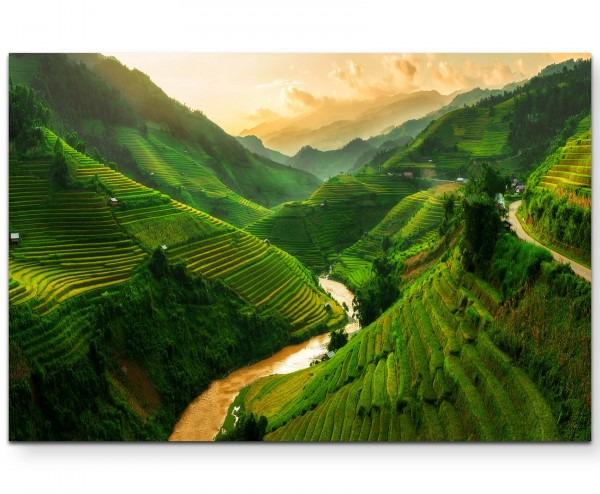 Mu Cang Chai – Reisterrassen - Leinwandbild