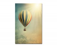120x80cm Heißluftballon Himmel Sonne Wolken