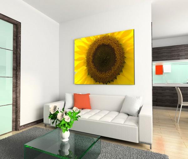 120x80cm Wandbild Sonnenblume Nahaufnahme