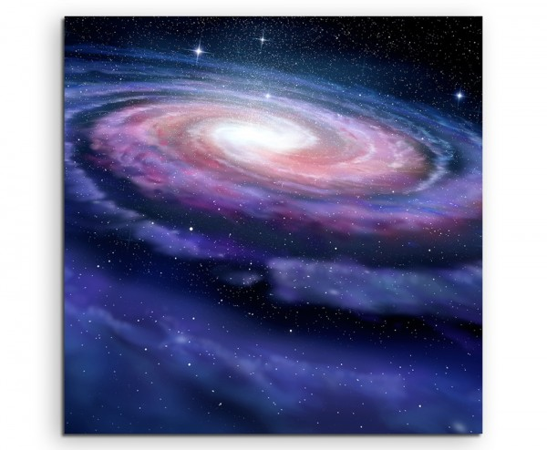 Illustration – Spiralförmige Galaxie auf Leinwand