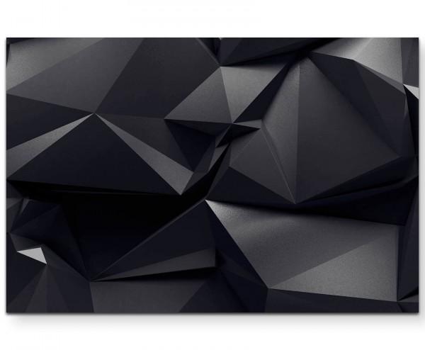 Abstrakter graphitfarbener Hintergrund - Leinwandbild